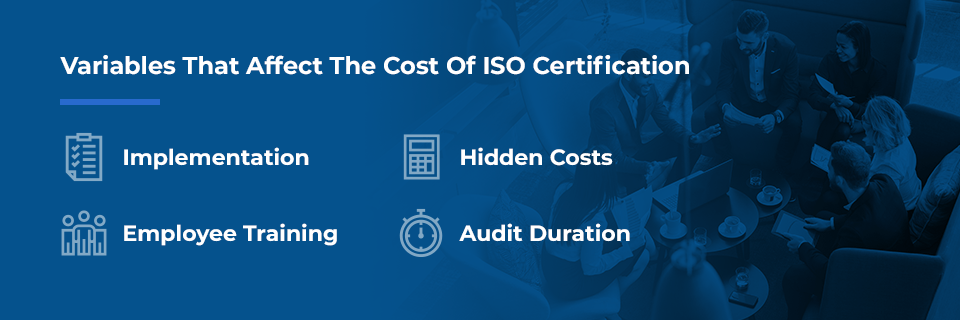 certification cost variables