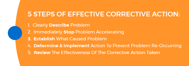 steps of corrective action plan