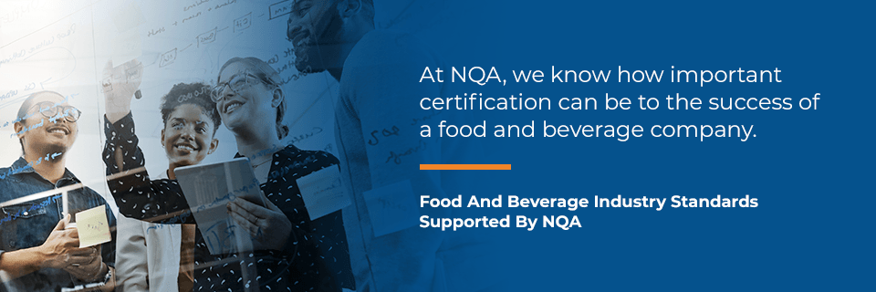 food & beverage standards